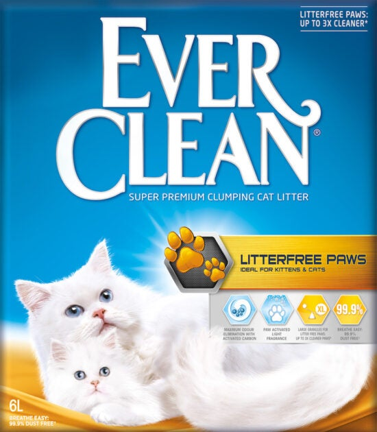 Ever Clean Super Premium Clumping Cat Litter Less Trail Product Front Image